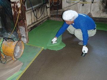 塗り床改修中